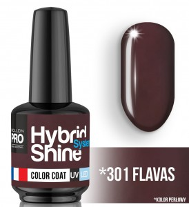 Lakier hybrydowy Hybrid Shine System - Color UV/LED - 301 Flavas