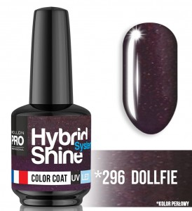 Lakier hybrydowy Hybrid Shine System - Color UV/LED - 296 Dollfie