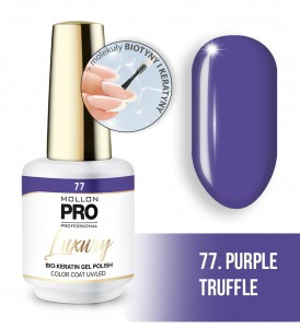 77. PURPLE TRUFFLE LUXURY GEL POLISH COLOR COAT - HYBRYDA ŻELOWA UV/LED Mollon PRO 8ml