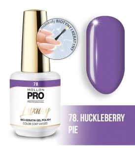 78. HUCKLEBERRY PIE LUXURY GEL POLISH COLOR COAT - HYBRYDA ŻELOWA UV/LED Mollon PRO 8ml
