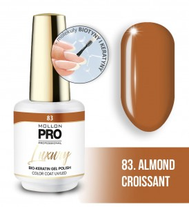 83. ALMOND CROISSANT LUXURY GEL POLISH COLOR COAT - HYBRYDA ŻELOWA UV/LED Mollon PRO 8ml