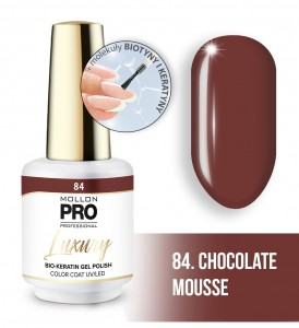 84. CHOCOLATE MOUSSE LUXURY GEL POLISH COLOR COAT - HYBRYDA ŻELOWA UV/LED Mollon PRO 8ml