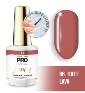 86. TOFFEE LAVA LUXURY GEL POLISH COLOR COAT - HYBRYDA ŻELOWA UV/LED Mollon PRO 8ml