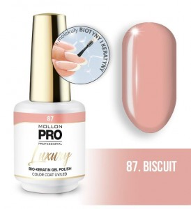 87. BISCUIT LUXURY GEL POLISH COLOR COAT - HYBRYDA ŻELOWA UV/LED Mollon PRO 8ml