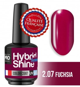 Lakier hybrydowy Hybrid Shine System - Color UV/LED - 2/07 FUCHSIA