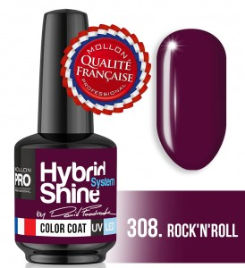 Lakier hybrydowy Hybrid Shine System - Color UV/LED - Signature by Dawid Foodrock - 308 Rock'n'roll