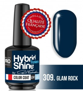 Lakier hybrydowy Hybrid Shine System - Color UV/LED - Signature by Dawid Foodrock - 309 Glam Rock