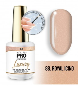 88. Royal Icing GEL POLISH COLOR COAT - HYBRYDA ŻELOWA UV/LED Mollon PRO 8ml