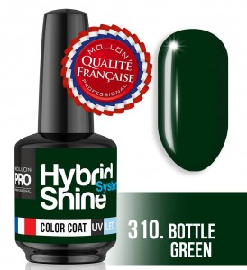 Lakier hybrydowy Hybrid Shine System - Color UV/LED - 310 Bottle Green