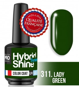 Lakier hybrydowy Hybrid Shine System - Color UV/LED - 311 Lay Green