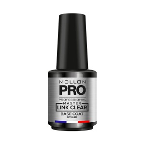 Master Link Clear Base Coat UV/LED 12 ml - Mega wytrzymała baza uniwersalna - Mollon PRO