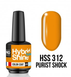 312. Purist Shock - Lakier hybrydowy Hybrid Shine System - Color UV/LED - Mollon PRO