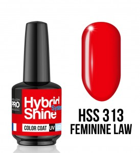 313. Feminine Law - Lakier hybrydowy Hybrid Shine System - Color UV/LED - Mollon PRO