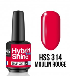 314. Moulin Rouge - Lakier hybrydowy Hybrid Shine System - Color UV/LED - Mollon PRO