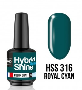 316. Royal Cyan - Lakier hybrydowy Hybrid Shine System - Color UV/LED - Mollon PRO