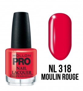 318. Moulin Rouge - Lakier Klasyczny Hardening Nail Lacquer 15 ml - Mollon PRO
