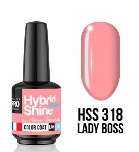 318. Lady Boss  - Lakier hybrydowy Hybrid Shine System - Color UV/LED - Mollon PRO