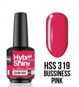 319. Business Pink - Lakier hybrydowy Hybrid Shine System - Color UV/LED - Mollon PRO