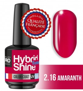 Lakier hybrydowy Hybrid Shine System - Color UV/LED - 2/16 AMARANTH