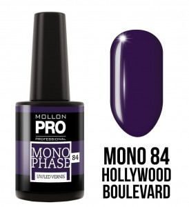 84. Hollywood Boulevard - Lakier jednofazowy Monophase UV/LED Vernis - Mollon PRO