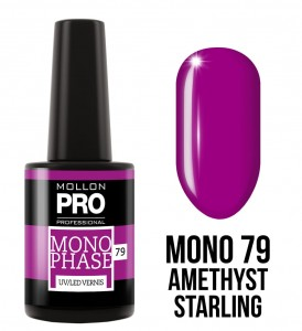 79. AMETHYST STARLING - Lakier jednofazowy Monophase UV/LED Vernis - Mollon PRO
