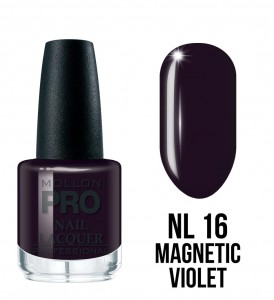 16. Magnetic Violet - Lakier Klasyczny Hardening Nail Lacquer 15 ml - Mollon PRO
