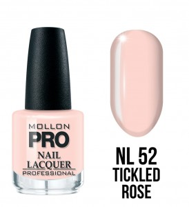 52. Tickled Rose - Lakier Klasyczny Hardening Nail Lacquer 15 ml - Mollon PRO