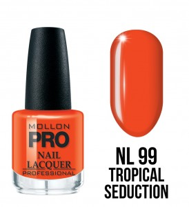 99. Tropical Seduction - Lakier Klasyczny Hardening Nail Lacquer 15 ml - Mollon PRO