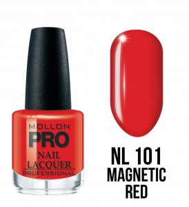 101. Magnetic Red - Lakier Klasyczny Hardening Nail Lacquer 15 ml - Mollon PRO