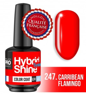 Lakier hybrydowy Hybrid Shine System - Color UV/LED - 247 Carribean Flamingo