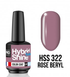 322. Rose Beryl - Lakier hybrydowy Hybrid Shine System - Color UV/LED - Mollon PRO