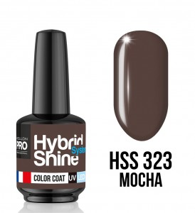 323. Mocha - Lakier hybrydowy Hybrid Shine System - Color UV/LED - Mollon PRO