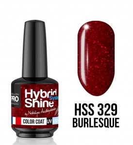 329. Burlesque - Lakier hybrydowy Hybrid Shine System - Color UV/LED - Mollon PRO