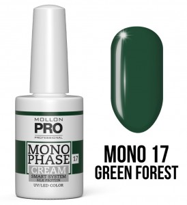 17. Green Forest - Monophase Cream one step 10ml - jednofazowy lakier hybrydowy oparty na systemie SMART - Mollon PRO