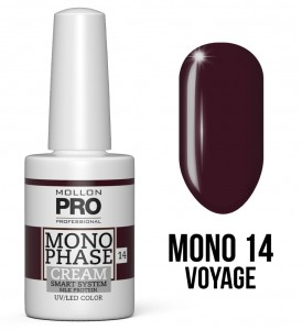14. Voyage - Monophase Cream one step 10ml - jednofazowy lakier hybrydowy oparty na systemie SMART - Mollon PRO