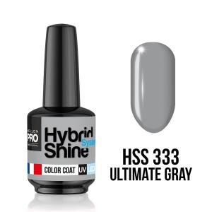 333. Ultimate Gray - Lakier hybrydowy Hybrid Shine System - Color UV/LED - Mollon PRO