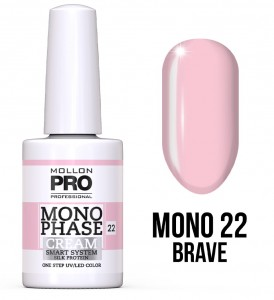22. Brave - Monophase Cream one step 10ml - jednofazowy lakier hybrydowy oparty na systemie SMART - Mollon PRO