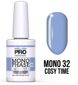 32. Cosy Time - Monophase Cream one step 10ml - jednofazowy lakier hybrydowy oparty na systemie SMART - Mollon PRO