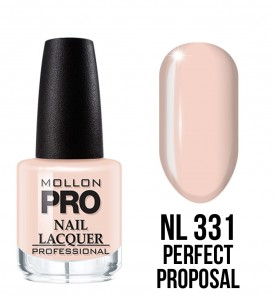331. Perfect Proposal - Lakier Klasyczny Hardening Nail Lacquer 15 ml - Mollon PRO