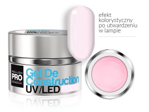 Gel De Construction UV/LED w systemie trójfazowym  - 09 DELICATE PINK  30ml - Mollon PRO