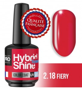 Lakier hybrydowy Hybrid Shine System - Color UV/LED - 2/18 FIERY
