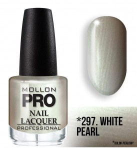 Hardening Nail Lacquer Mollon PRO nr 297 White pearl