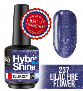 Lakier hybrydowy Hybrid Shine System - Color UV/LED - 237 Lilac Fire Flower