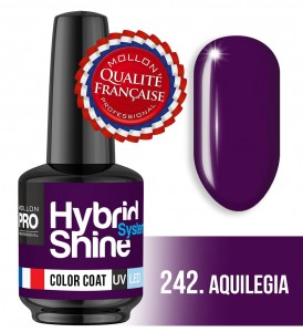 Lakier hybrydowy Hybrid Shine System - Color UV/LED - 242 Aquilegia