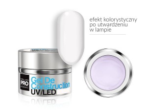 Gel De Construction UV/LED w systemie trójfazowym  - 08 SUBTLE WHITE  15ml - Mollon PRO