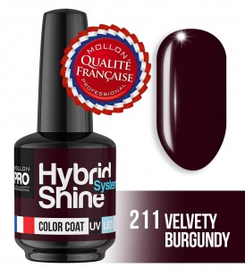 Lakier hybrydowy Hybrid Shine System - Color UV/LED - 211 VELVETY BURGUNDY