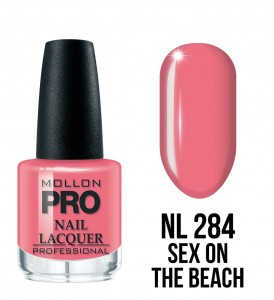 284. Sex on the Beach - Lakier Klasyczny Hardening Nail Lacquer 15 ml - Mollon PRO