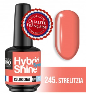 Lakier hybrydowy Hybrid Shine System - Color UV/LED - 245 Strelitzia