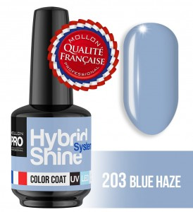 Lakier hybrydowy Hybrid Shine System - Color UV/LED - 2/203 BLUE HAZE