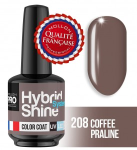 Lakier hybrydowy Hybrid Shine System - Color UV/LED - 208 COFFE PRALINE